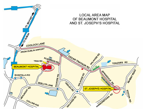 Beaumont Hospital Local Map